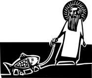Θεός Δαρβίνου ελεύθερη απεικόνιση δικαιώματος