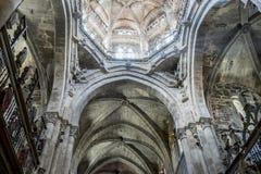 Θεός, μεσαιωνική γοτθική αρχιτεκτονική μέσα σε έναν καθεδρικό ναό στην Ισπανία S Στοκ εικόνες με δικαίωμα ελεύθερης χρήσης