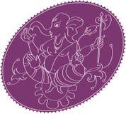 Θεός ganesha ελεφάντων Στοκ Εικόνες