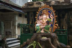 Θεός Ganesha, Μπαλί, Ινδονησία βωμών Στοκ Εικόνες