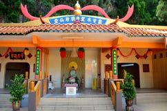 Θεότητα στον ταοϊστικό ναό Ipoh Μαλαισία σπηλιών Sen Tong μολβών Στοκ Φωτογραφίες