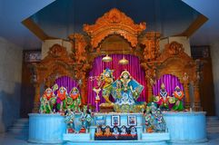 Θεότητες Shree Radha Gopal mandir ISKCON Aravade, Tasgaon κοντά σε Sangli, Maharashtra στοκ εικόνες