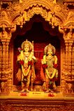 Θεότητες Sitaram Shree σε BAPS Shri Swaminarayan Mandir Pune στοκ εικόνα με δικαίωμα ελεύθερης χρήσης