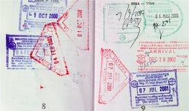 θεώρηση διαβατηρίων στοκ εικόνες