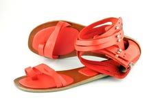 θηλυκά ανοικτά κόκκινα παπούτσια Στοκ εικόνα με δικαίωμα ελεύθερης χρήσης