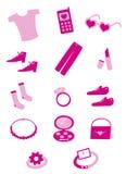 θηλυκά εργαλεία αγορών Στοκ Φωτογραφία