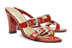 θηλυκά κόκκινα παπούτσια Στοκ Φωτογραφίες