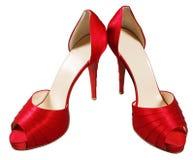 θηλυκά κόκκινα παπούτσια Στοκ φωτογραφίες με δικαίωμα ελεύθερης χρήσης