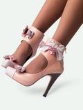 θηλυκά παπούτσια ποδιών Στοκ Εικόνα