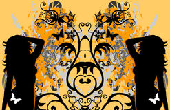 θηλυκά πεταλούδων grunge προ&kapp Στοκ φωτογραφίες με δικαίωμα ελεύθερης χρήσης
