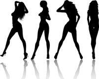 θηλυκά προκλητικά Στοκ Εικόνες
