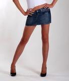 θηλυκά πόδια λεπτά Στοκ Εικόνα