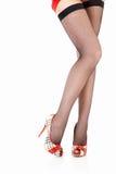 θηλυκά πόδια σεξουαλικ Στοκ Εικόνα