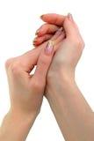 θηλυκά χέρια Στοκ Φωτογραφίες