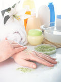 θηλυκά χέρια Στοκ Εικόνες