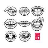 Θηλυκά χείλια καθορισμένα απεικόνιση αποθεμάτων