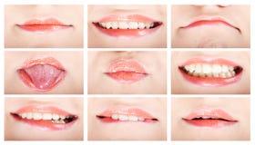 θηλυκά χείλια στοκ εικόνα