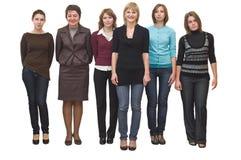θηλυκές έξι νεολαίες ομ&om Στοκ φωτογραφία με δικαίωμα ελεύθερης χρήσης