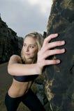 θηλυκές stretsching νεολαίες Στοκ Φωτογραφίες