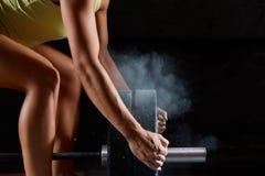 Θηλυκή άσκηση αθλητών ικανότητας Στοκ εικόνα με δικαίωμα ελεύθερης χρήσης