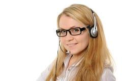 θηλυκή αντιπροσωπευτική εξυπηρέτηση πελατών Στοκ Εικόνα