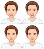 Θηλυκή γήρανση έκφρασης του προσώπου διανυσματική απεικόνιση