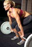 θηλυκή ικανότητα workout Στοκ εικόνα με δικαίωμα ελεύθερης χρήσης