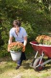 θηλυκή μέση κηπουρών ηλικί&a Στοκ φωτογραφίες με δικαίωμα ελεύθερης χρήσης
