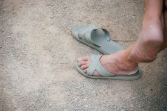Θηλυκή παντόφλα ποδιών στοκ εικόνα με δικαίωμα ελεύθερης χρήσης