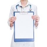 Θηλυκή περιοχή αποκομμάτων εκμετάλλευσης ιατρών Στοκ φωτογραφίες με δικαίωμα ελεύθερης χρήσης