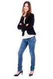 θηλυκή πρότυπη στάση μόδας στοκ φωτογραφία με δικαίωμα ελεύθερης χρήσης