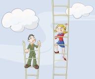 θηλυκή σκάλα σταδιοδρ&omicron ελεύθερη απεικόνιση δικαιώματος