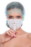 θηλυκή σύριγγα γιατρών Στοκ Εικόνες