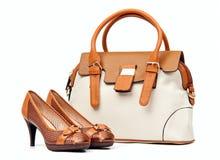 θηλυκή τσάντα πέρα από το λ&epsilon στοκ εικόνες με δικαίωμα ελεύθερης χρήσης