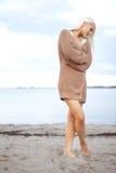 θηλυκή φυσική άμμος σχεδί Στοκ φωτογραφία με δικαίωμα ελεύθερης χρήσης