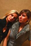 θηλυκοί φίλοι δύο νεολ&alph Στοκ εικόνα με δικαίωμα ελεύθερης χρήσης