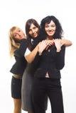 θηλυκοί φίλοι τρία Στοκ Εικόνα