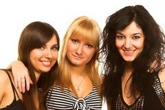 θηλυκοί φίλοι τρία Στοκ Φωτογραφία