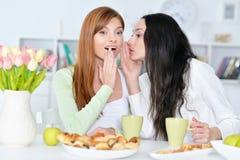 Θηλυκοί φίλοι friendsfemale που μοιράζονται το μυστικό Στοκ Φωτογραφίες
