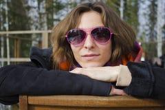 θηλυκός ήλιος γυαλιών Στοκ Εικόνες