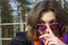 θηλυκός ήλιος γυαλιών Στοκ εικόνες με δικαίωμα ελεύθερης χρήσης