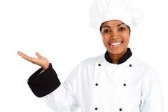 Θηλυκός αρχιμάγειρας στοκ φωτογραφία με δικαίωμα ελεύθερης χρήσης