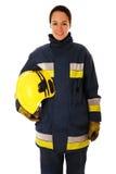 θηλυκός εθελοντής πυρ&omic Στοκ Φωτογραφία