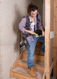 Θηλυκός εργάτης οικοδομών Στοκ εικόνες με δικαίωμα ελεύθερης χρήσης
