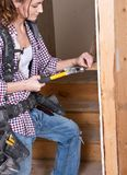 Θηλυκός εργάτης οικοδομών Στοκ Φωτογραφίες