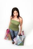 θηλυκός ευτυχής αγοραστής Στοκ φωτογραφίες με δικαίωμα ελεύθερης χρήσης