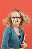 θηλυκός ευτυχής σπουδ& στοκ εικόνες με δικαίωμα ελεύθερης χρήσης