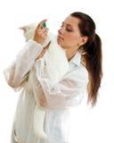 θηλυκός κτηνίατρος στοκ φωτογραφίες