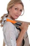 Θηλυκός ξυλουργός Στοκ Εικόνες