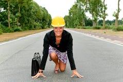 θηλυκός οδικός επόπτης φύ&s Στοκ Φωτογραφία